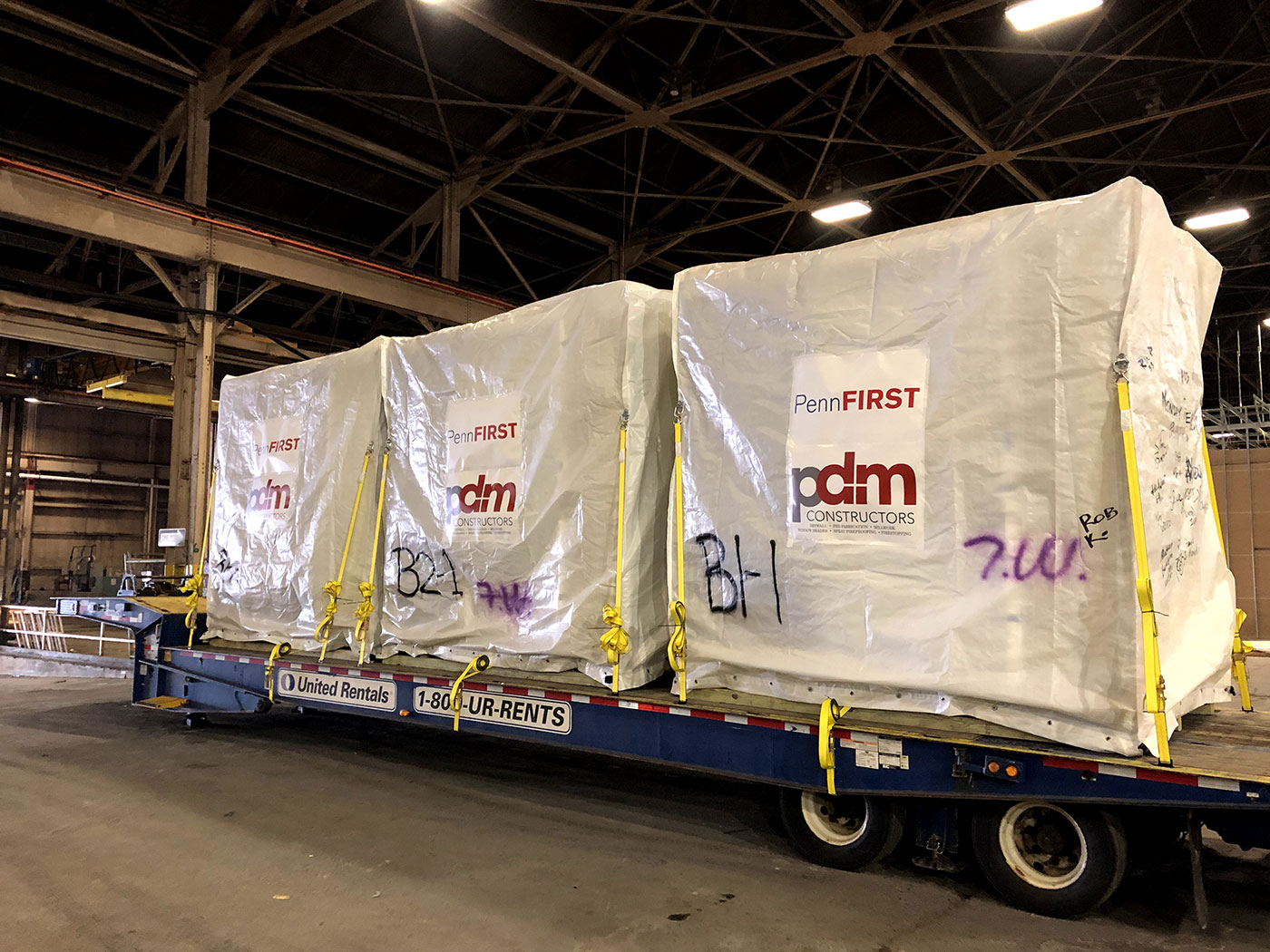 Prefabricated Bathroom Pods being transported